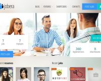 Jobera WordPress Theme via ThemeForest
