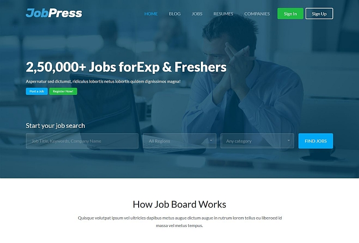 JobPress WordPress Theme via ThemeForest