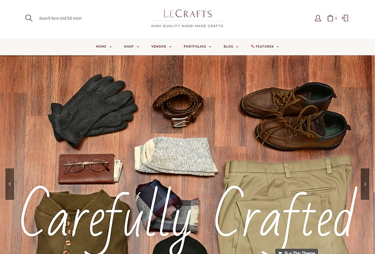 Le Crafts WordPress Theme via ThemeForest