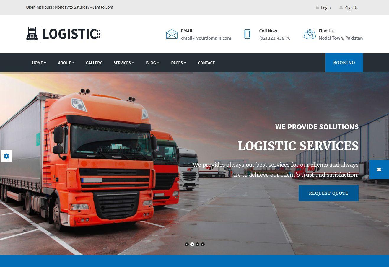Logistic Pro WordPress Theme via ThemeForest