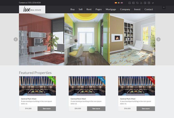 31 Real Estate HTML Website Templates Postashio