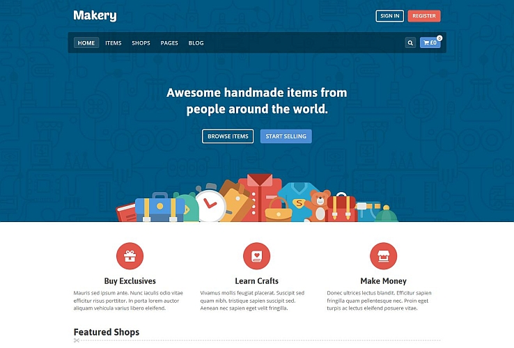Makery WordPress Theme via ThemeForest