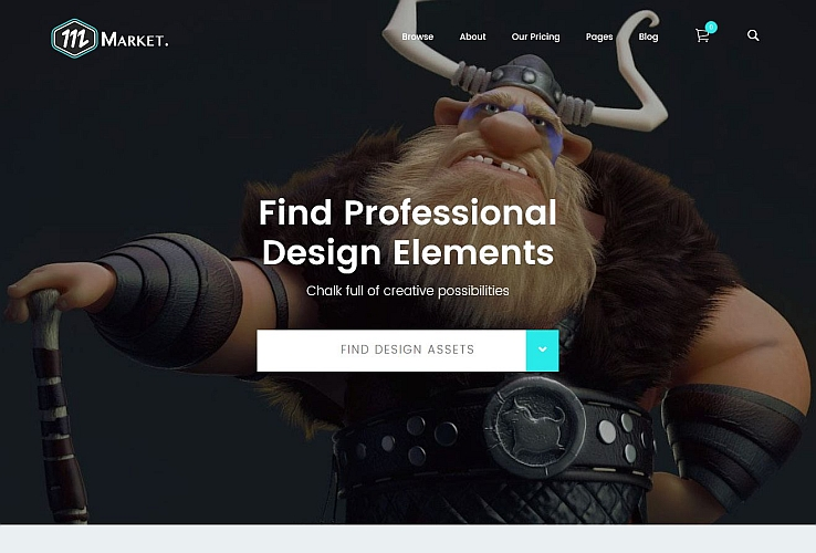 Market WordPress Theme via ThemeForest
