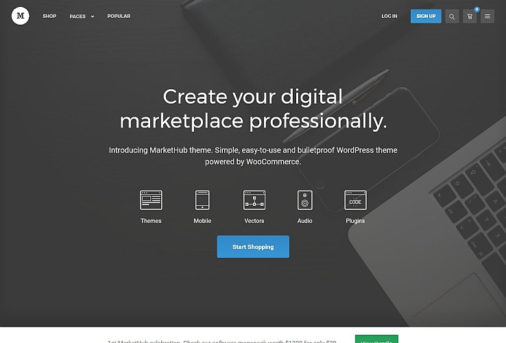 MarketHub WordPress Theme via ThemeForest