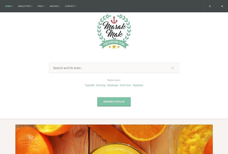 MasakMak WordPress Theme via ThemeForest