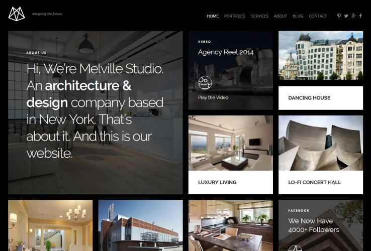 Melville WordPress Theme via ThemeForest