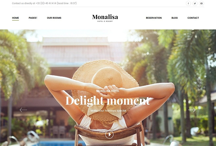 Monalisa WordPress Theme via ThemeForest