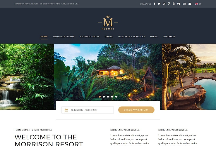Morrison Hotel WordPress Theme via ThemeForest