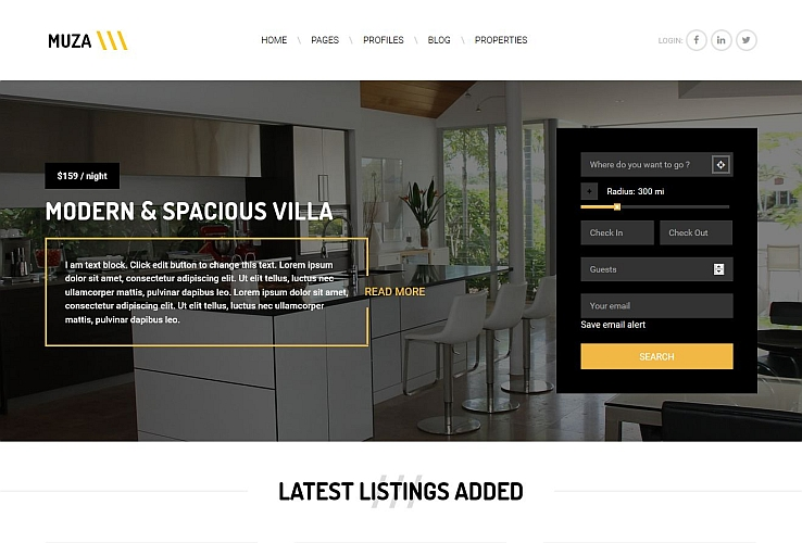 Muza WordPress Theme via ThemeForest