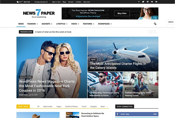 Newspaper WordPress Theme via ThemeForest