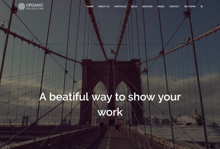 Organic Architecture WordPress Theme via ThemeForest