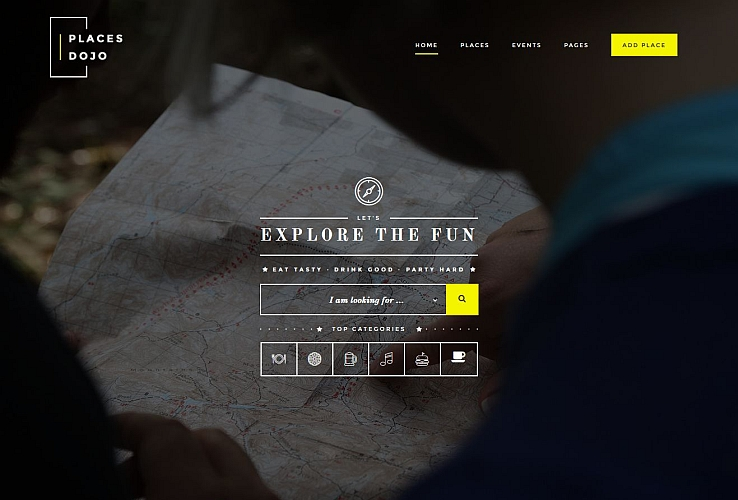 Places Dojo WordPress Theme via ThemeForest