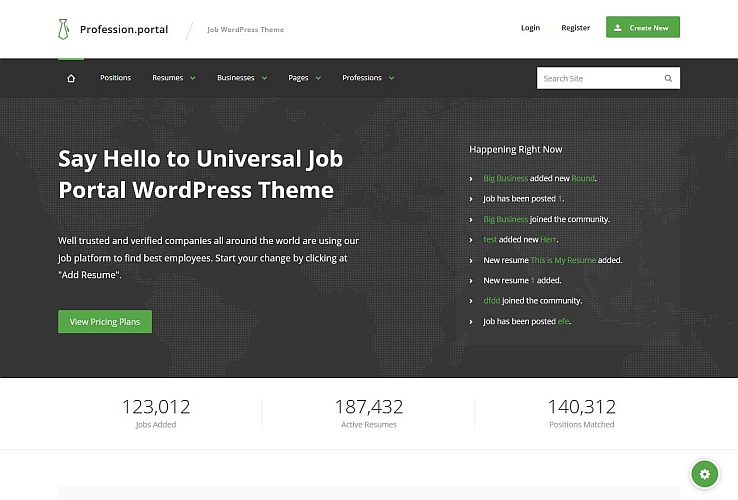 Profession WordPress Theme via ThemeForest