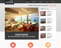 Real Estate Responsive HTML Website Template via ThemeForest