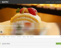 Recipe WordPress Theme via ThemeForest
