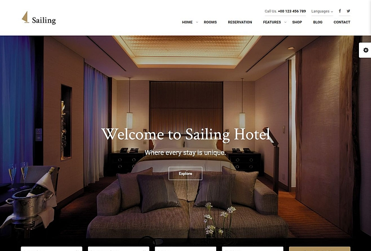 Sailing Hotel WordPress Theme via ThemeForest