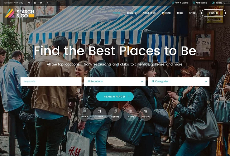 Search & Go WordPress Theme via ThemeForest