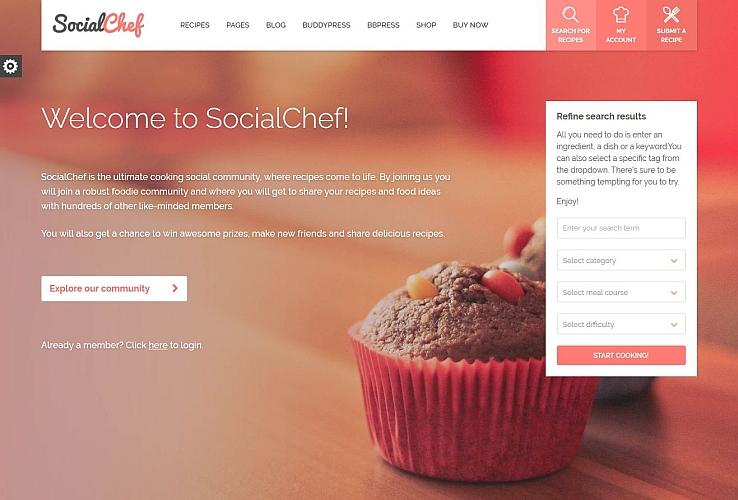 Social Chef WordPress Theme via ThemeForest