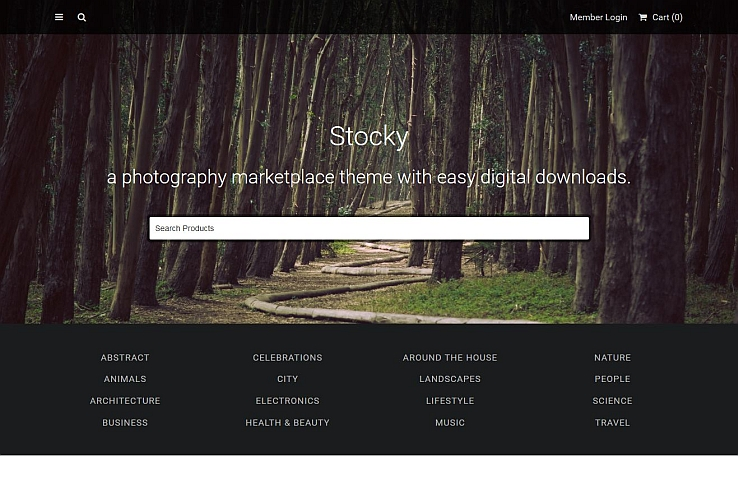 Stocky WordPress Theme via ThemeForest