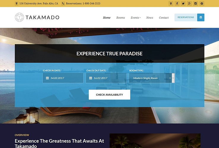 Takamado WordPress Theme via ThemeForest