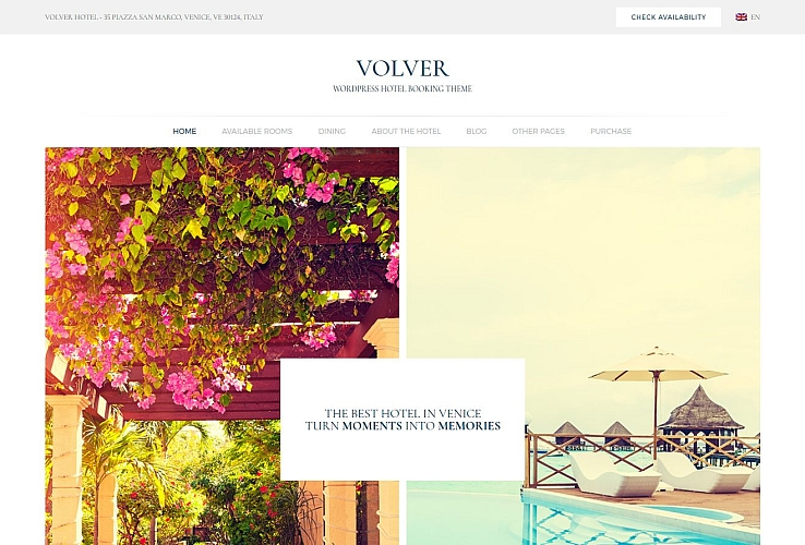 Volver WordPress Theme via ThemeForest