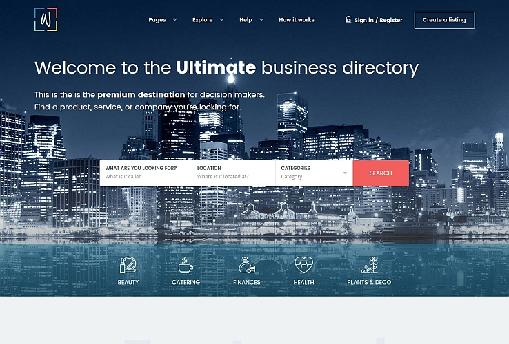 Whitelab WordPress Theme via ThemeForest
