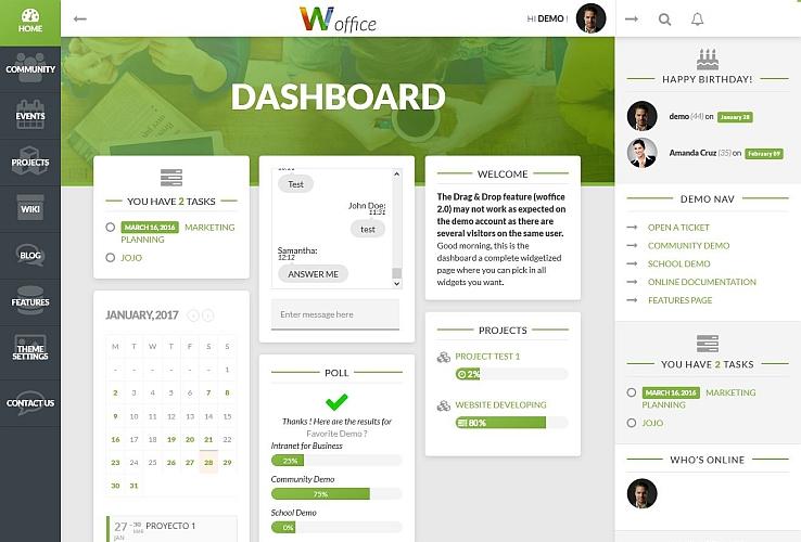 Woffice WordPress Theme via ThemeForest