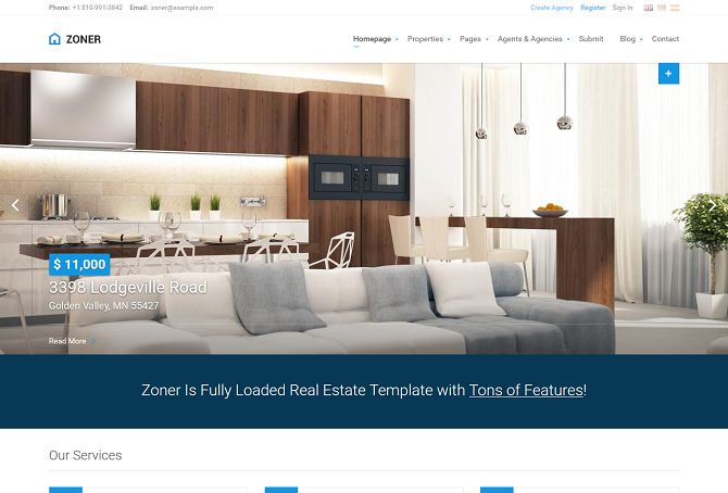 Zoner HTML Website Template via ThemeForest