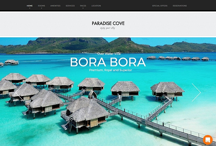 Paradise Cove WordPress Theme by ThemeFuse