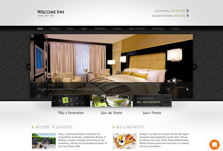 Welcome Inn WordPress Theme by ThemeFuse