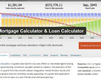 Mortgage Loan Calculator WordPress Plugin