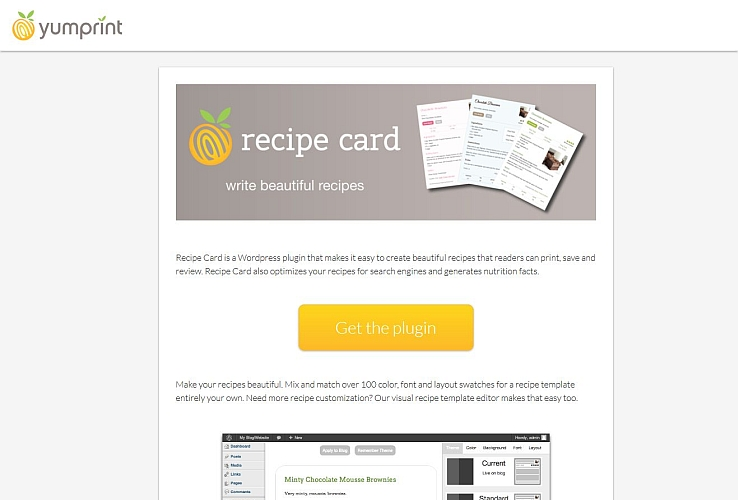 Recipe Card WordPress Plugin via WordPress.org