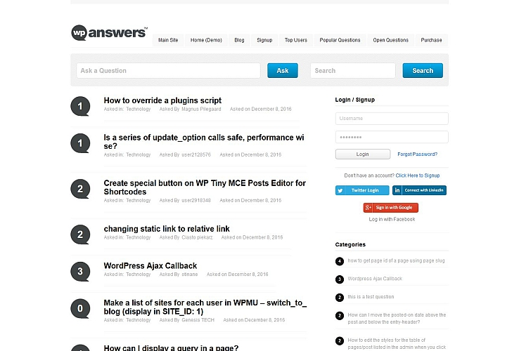 WP-Answers WordPress Theme by ThemeFurnace